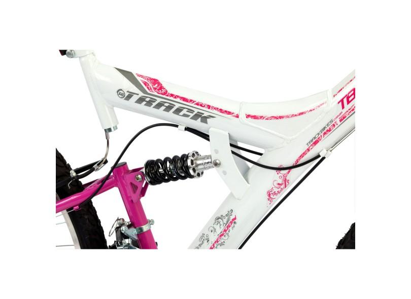 Bicicleta TRACK & BIKES Mountain Bike Aro 26 Suspensão Full Suspension TB200XS