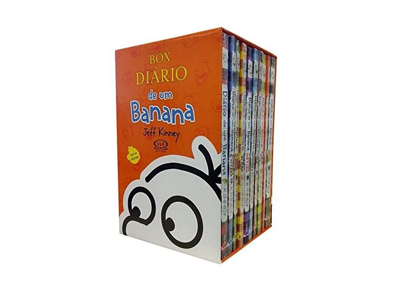 Box - Diário de Um Banana - 10 Volumes - Acompanha Pôster - Kinney, Jeff - 7898383591078