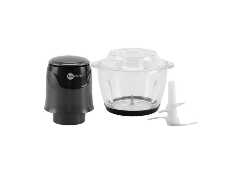 Mini Processador de Alimentos Fun Kitchen Mini com Bowl de Vidro 250 W