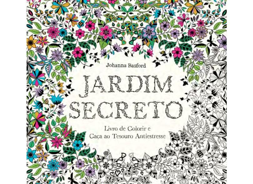 Jardim Secreto. Livro de Colorir e Caça ao Tesouro Antiestresse - Capa Comum - 9788543101637