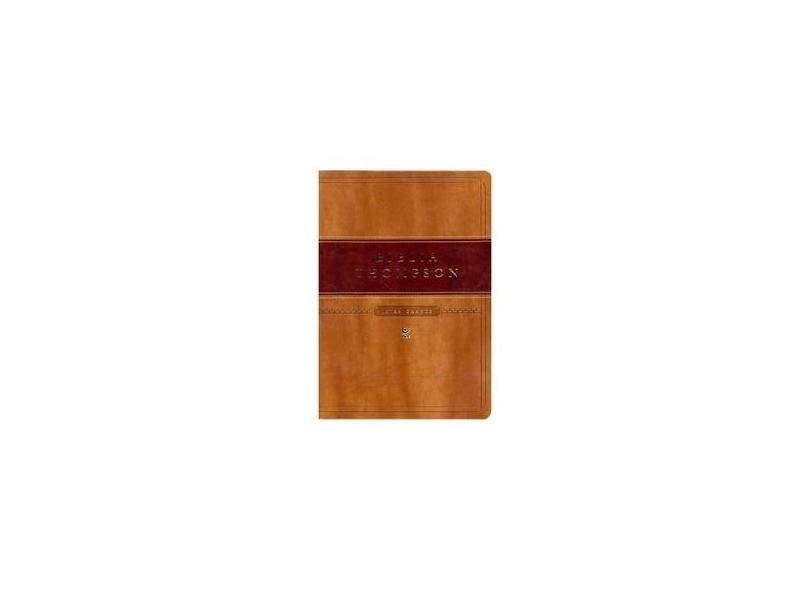 Bíblia Thompson Aec Letra Grande - Capa Marrom Claro e Escuro - Thompson, Frank Charles - 9788000003313