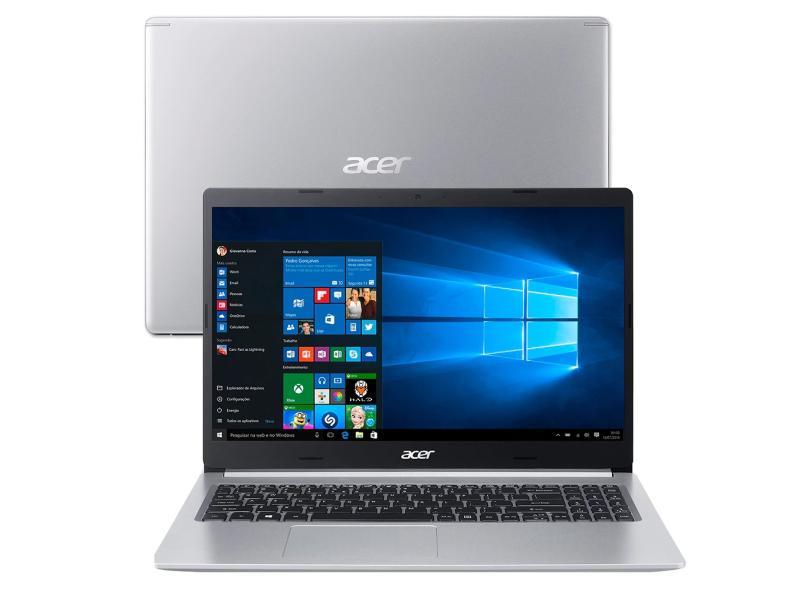 """Notebook Acer Aspire 5 Intel Core i5 10210U 10ª Geração 8.0 GB de RAM 512.0 GB 15.6 """" Windows 10 A515-54-59X2"""
