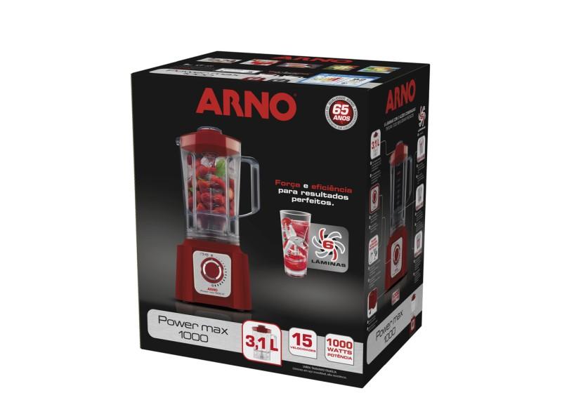 Liquidificador Arno Power Max LN5548B1 1.75 l 15 Velocidades 1000 W