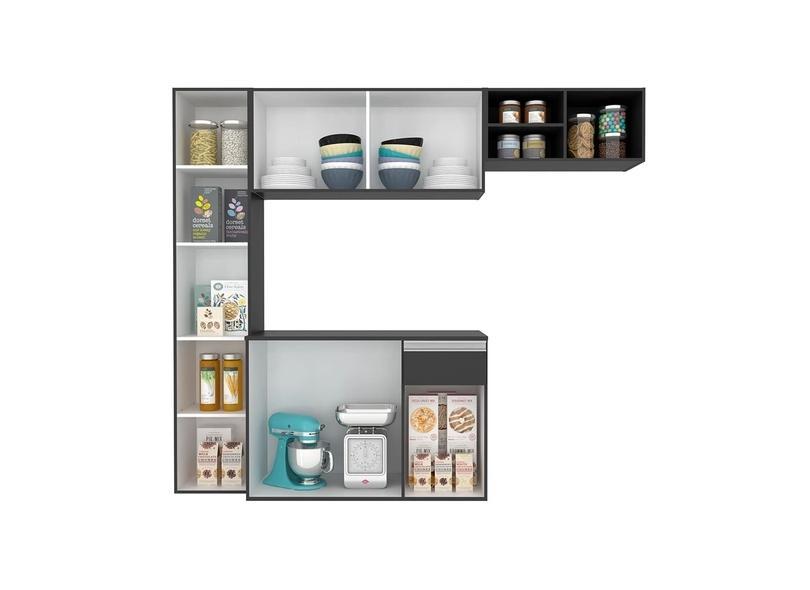 Cozinha Compacta 1 Gaveta 7 Portas Petra Móveis Arapongas
