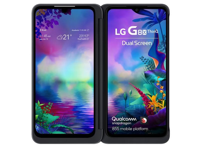 Smartphone LG G8X ThinQ 128GB Câmera Dupla Qualcomm Snapdragon 855 2 Chips Android 9.0 (Pie)