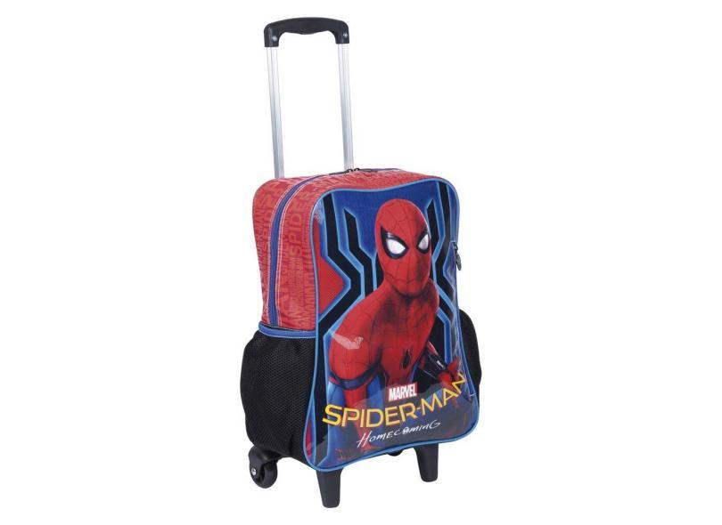 Mochila com Rodinhas Escolar Sestini G Spiderman