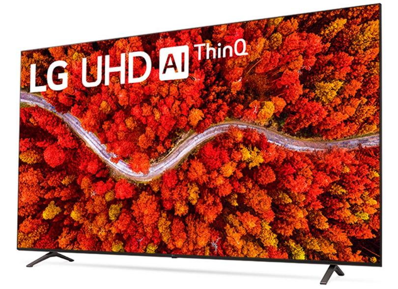"""Smart TV TV LED 75"""" LG ThinQ AI 4K HDR 75UP8050PSB 4 HDMI"""