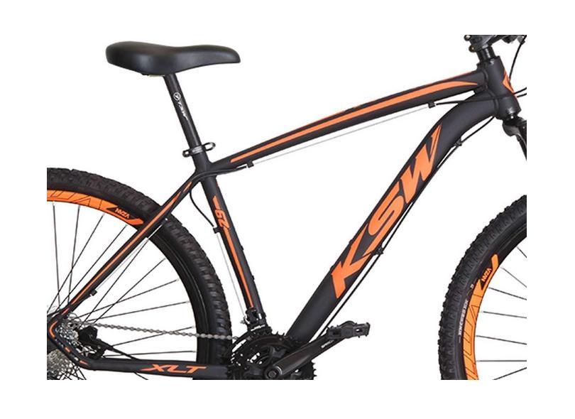 Bicicleta Mountain Bike KSW 27 Marchas Aro 29 Suspensão Dianteira a Disco Hidráulico XLT Alivio