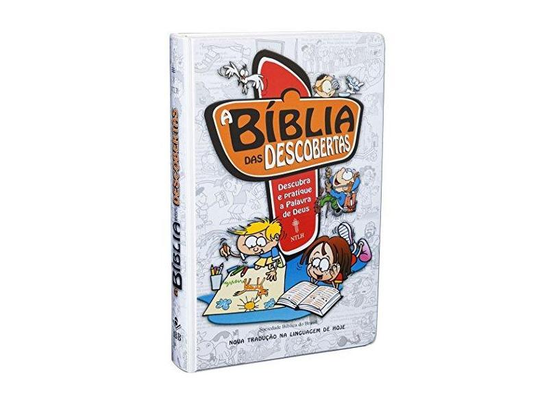 A Bíblia Das Descobertas - Capa Dura Ilustrada Plastificada - Azul - Vários - 9788531110740