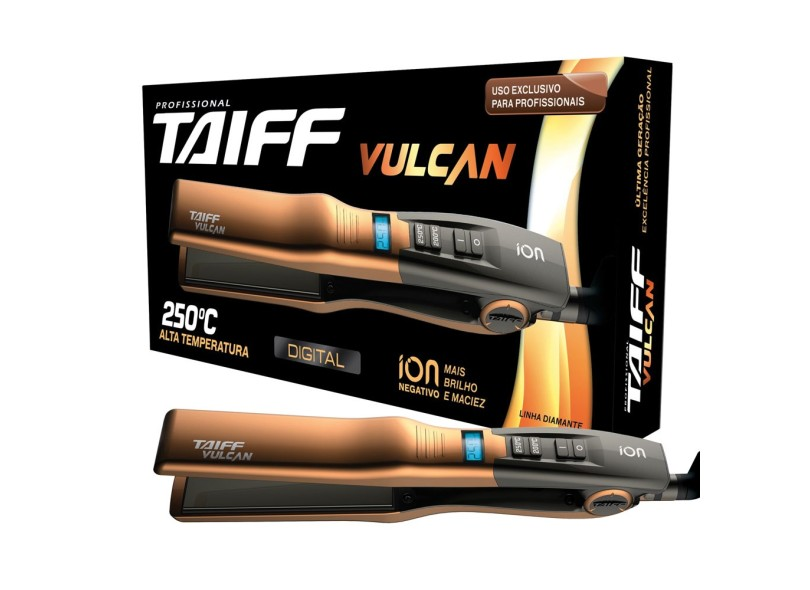 Chapinha/Prancha de Cabelo Taiff Cerâmica Profissional Emissão de Íons 240.0 °C - Vulcan