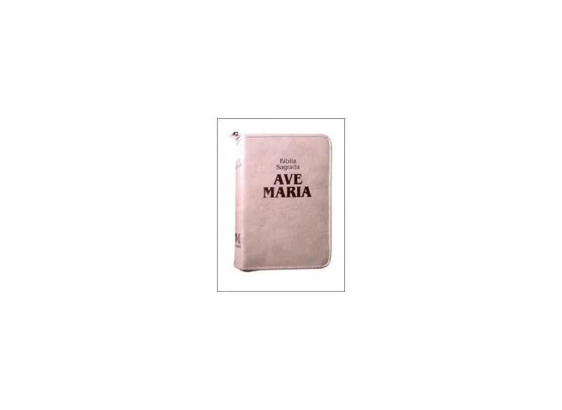 Bíblia Strike - Zíper - Média - Rosa - Editora Ave Maria - 7898140425967
