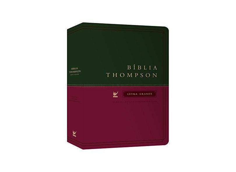 Bíblia Thompson Aec Letra Grande - Capa Verde e Vinho - Thompson, Frank Charles - 9788000003337