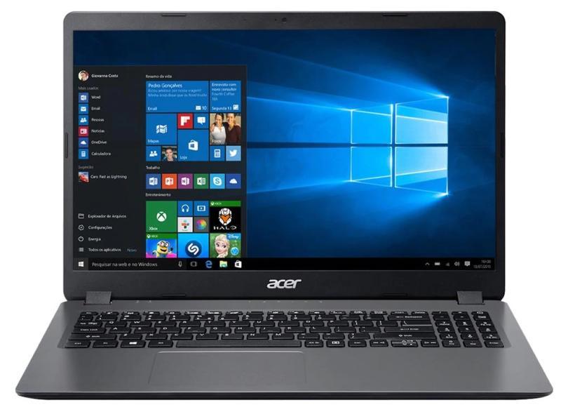 """Notebook Acer Aspire 3 Intel Core i3 1005G1 10ª Geração 8.0 GB de RAM 256.0 GB 15.6 """" Windows 10 A315-56-3090"""