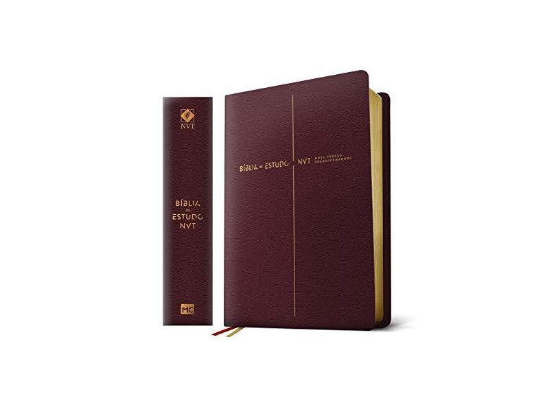 Bíblia De Estudo - Nvt - Capa Vinho - Mundo Cristão - 7898950265876