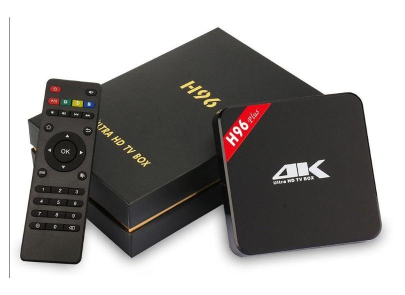 Smart TV Box H96 Plus 8GB 4K Android TV USB