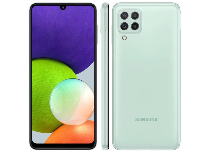 Smartphone Samsung Galaxy A22 4GB RAM 4 GB 128GB Câmera Quádrupla Android 11