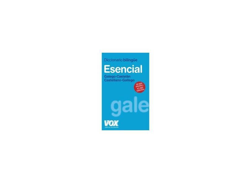 """Dicionario Esencial Galego-castelan/castelan-gale - """"vox"""" - 9788471538215"""
