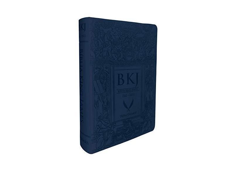 Bíblia King James Fiel 1611 - Ultra Gigante - Capa Luxo Azul - Books,bv - 9788581581729