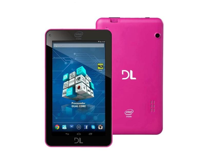"Tablet DL Eletrônicos 8.0 GB TFT 7 "" Android 4.4 (Kit Kat) X-Pro Dual"