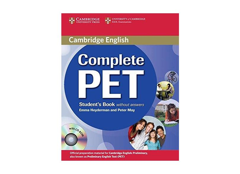 Complete Pet - Student´s Book - With CD-ROM ( Without Answers ) - Cambridge University Press; Cambridge University Press - 9780521746489
