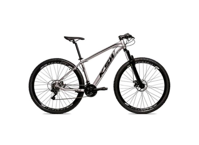 Bicicleta KSW 24 Marchas Aro 29 Suspensão Dianteira a Disco Hidráulico Shimano LTX
