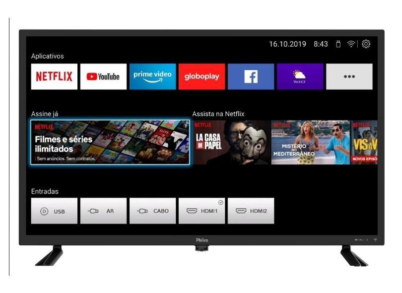 "Smart TV TV LED 32 "" Philco 32D10N5SKH 2 HDMI"