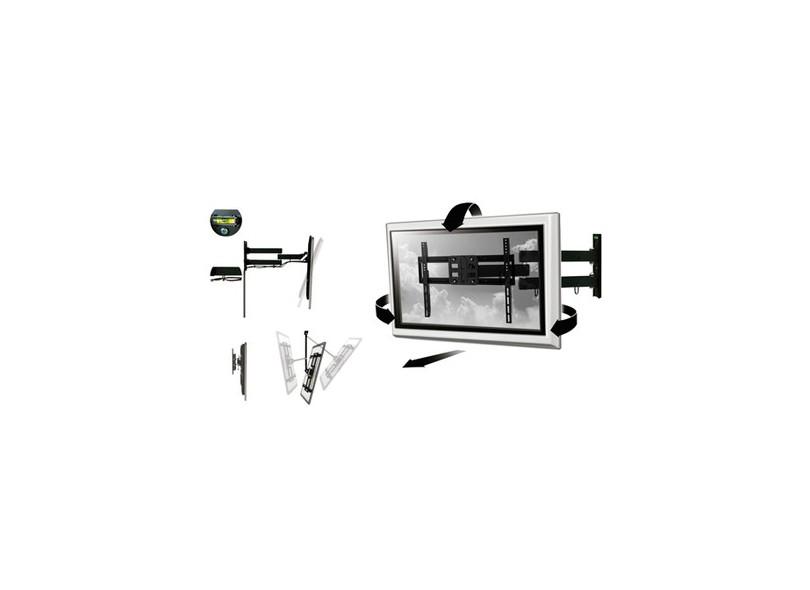 "Suporte para TV LCD/LED/Plasma Parede Articulado 23"" a 50"" Multilaser Full Motion AC261"