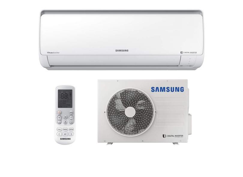 Ar Condicionado Split Hi Wall Samsung 24000 BTUs Inverter Controle Remoto Frio AR24NVFPCWKNAZ