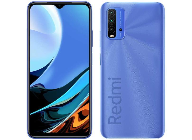 Smartphone Xiaomi Redmi 9T 128GB Câmera Quádrupla Qualcomm Snapdragon 662 2 Chips Android 10