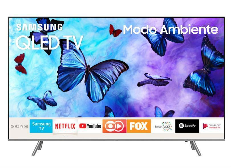 "Smart TV TV QLED 55"" Samsung Q6FN 4K HDR Netflix 55Q6FN 4 HDMI"