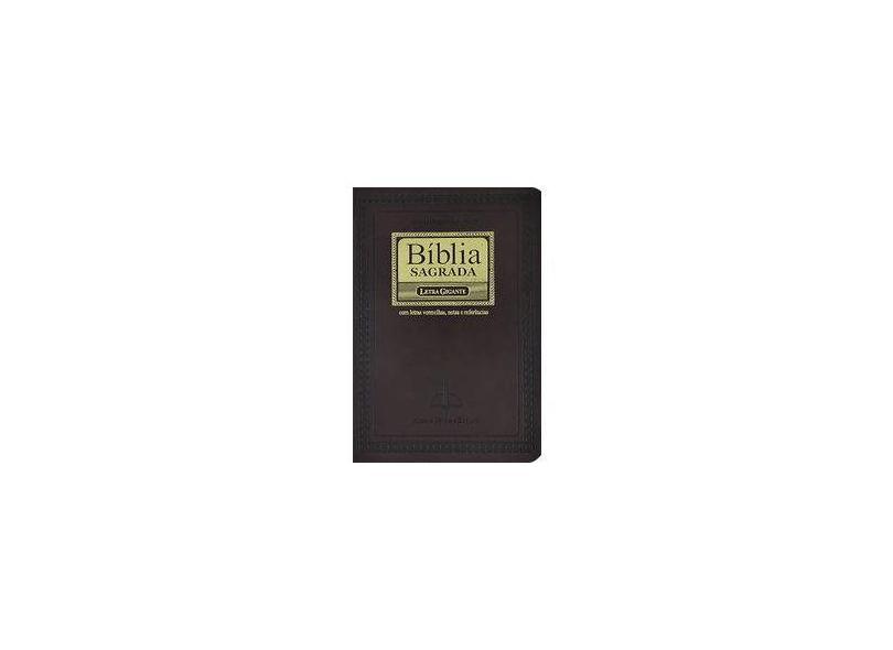 Bíblia Sagrada - Revista e Corrigida com Letra Gigante - Sbb - Sociedade Biblica Do Brasil - 7898521810733