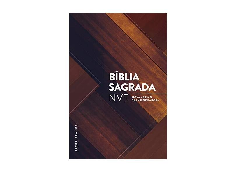 Bíblia Nvt. Madeira Triângulos - Letra Grande - Vários Autores - 7898950265944
