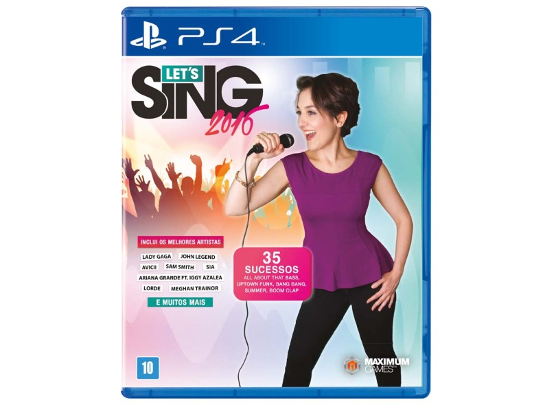 Jogo Let's Sing 2016 PS4 Maximum Family Games