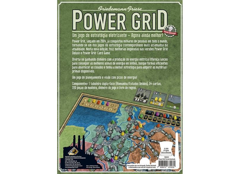 Jogo Power Grid Galápagos