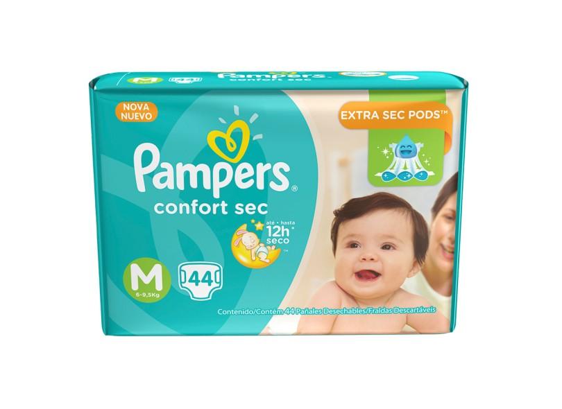 Fralda Pampers Confort Sec M Mega 44 Und 6 - 9,5kg