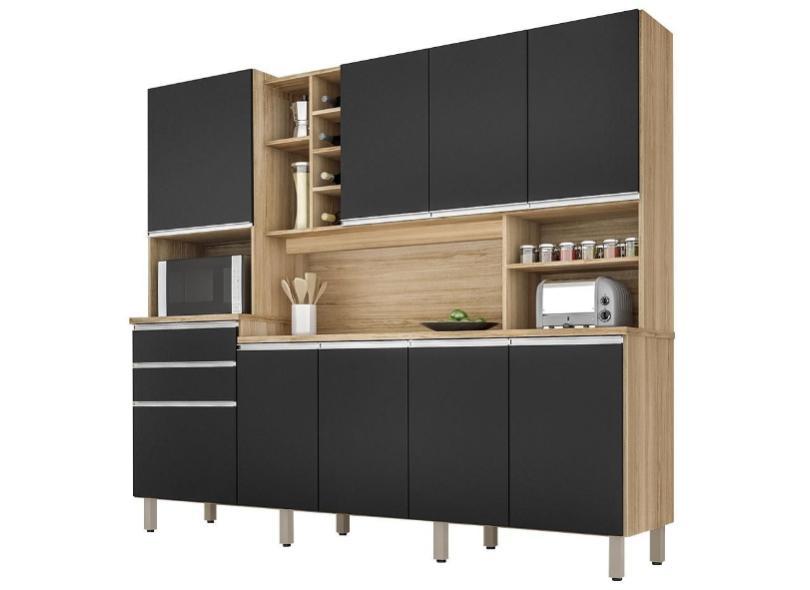 Cozinha Compacta 2 Gavetas 9 Portas para Micro-ondas / Forno Barcelona Csa Móveis