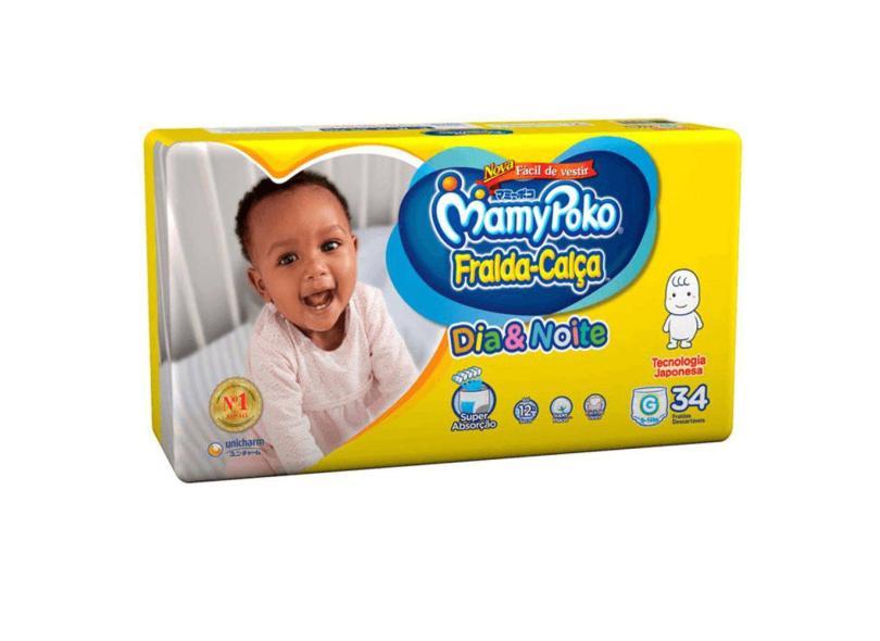 Fralda MamyPoko Fralda-Calça G Regular 34 Und 9 - 14kg