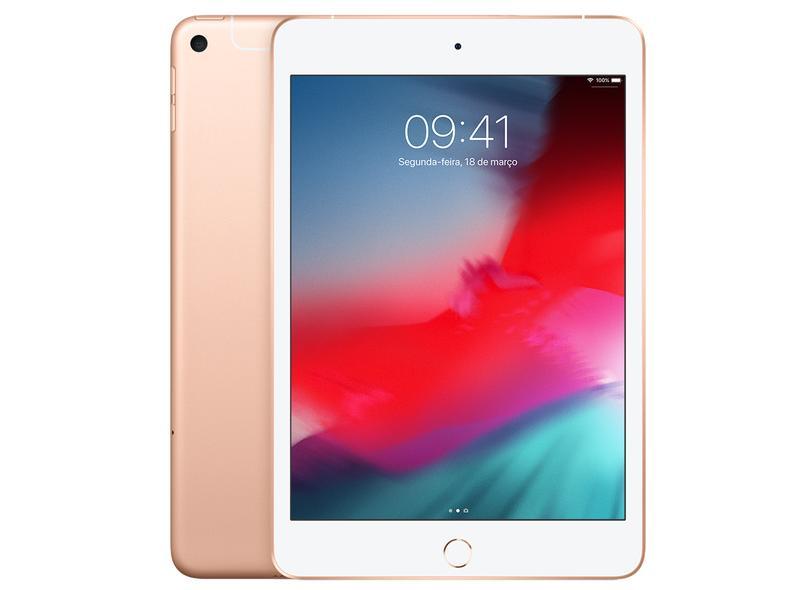 """Tablet Apple iPad Mini 5ª Geração 4G 256.0 GB Retina 7.9 """" 8.0 MP"""