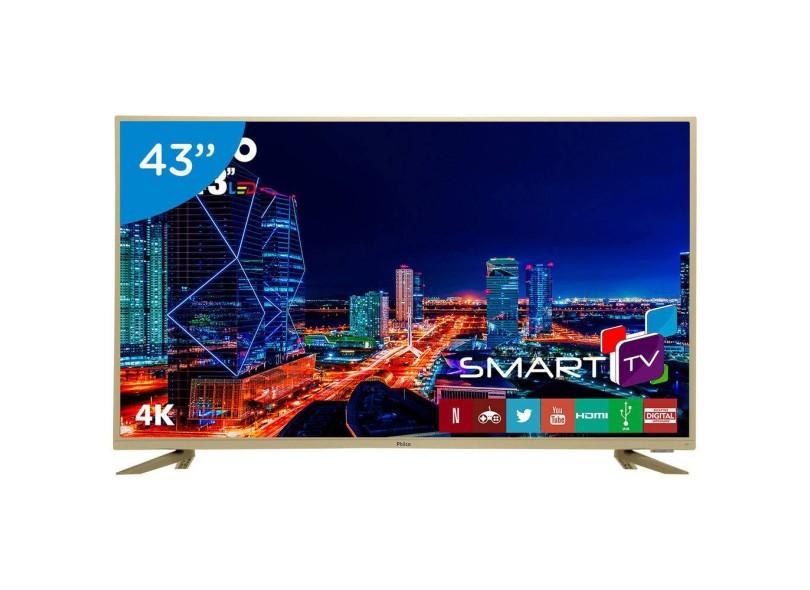 "Smart TV TV LED 43 "" Philco 4K Netflix PTV43F61DSWNC 3 HDMI"