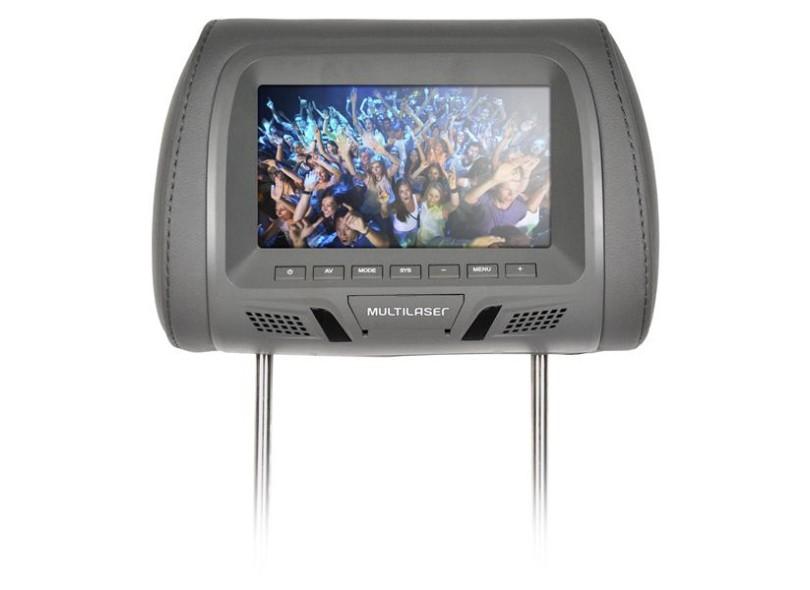 """Monitor de DVD Automotivo de Encosto de Cabeça LCD 7 """" - Multilaser AU323"""