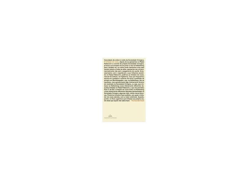 O Imitador de Vozes - Bernhard, Thomas - 9788535915044