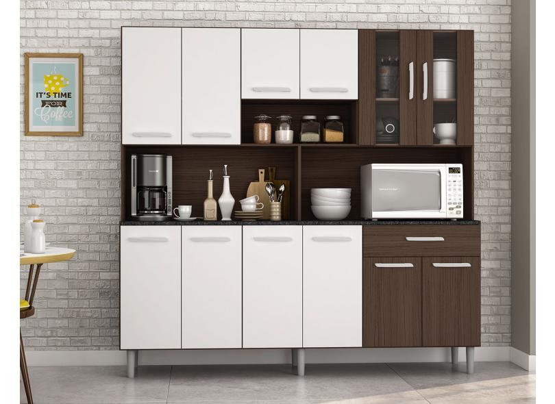 Cozinha Compacta 12 Portas 1 Gaveta Clara Poliman Móveis