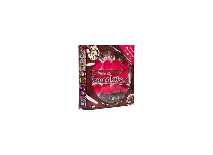 Delícias de Chocolate - Livro de Receitas Ilustrado + 8 Fôrmas de Silicone - Hinkler Books - 7898407056620
