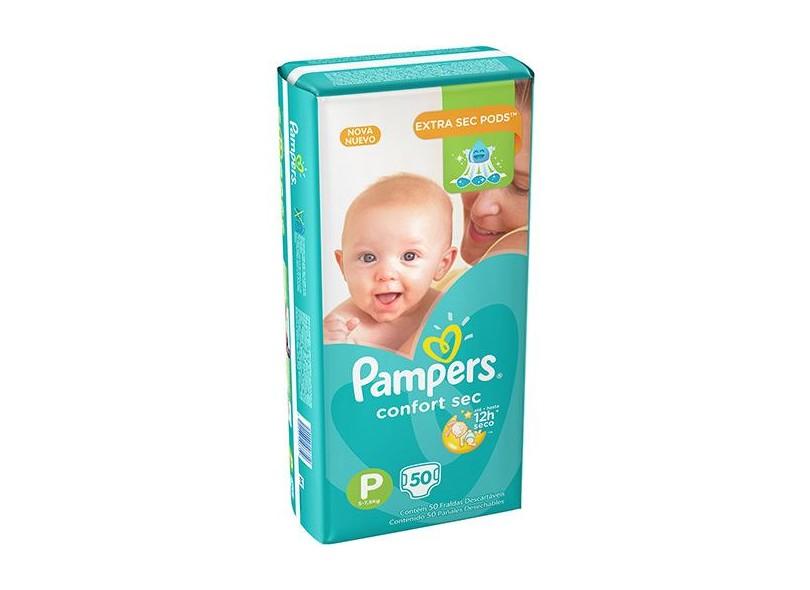 Fralda Pampers Confort Sec P Mega 50 Und 5 - 7,5kg