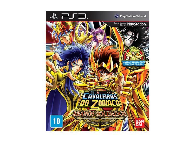 Jogo Cavaleiros do Zodíaco: Bravos Soldados PlayStation 3 Bandai Namco
