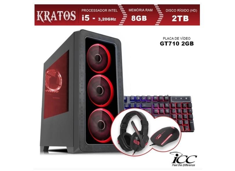 PC ICC Gamer Intel Core i5 3.2 GHz 8 GB 2000 GB GeForce GT 710 Windows 10 Pro KT2583KW