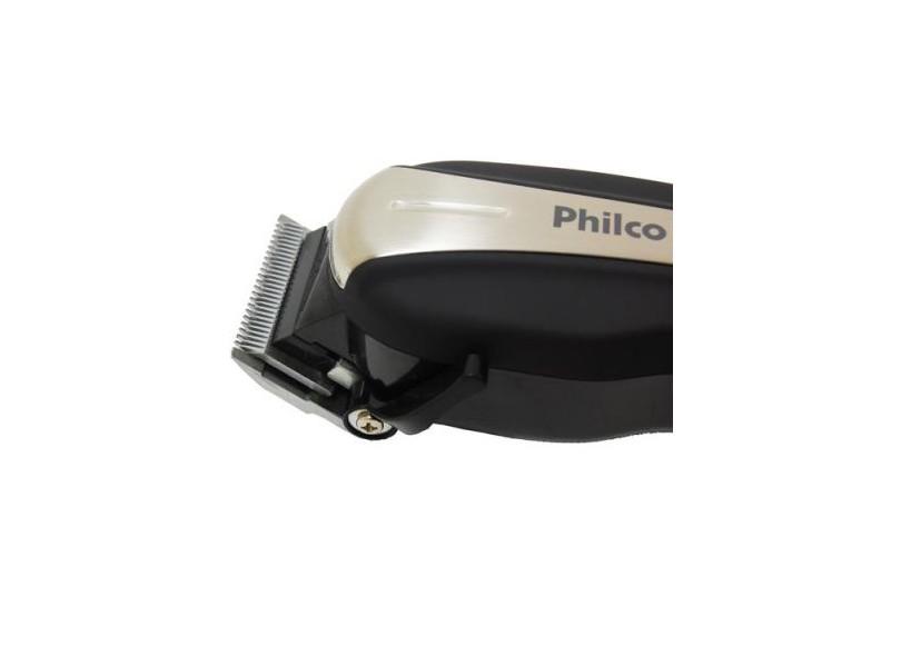 Máquina de Cortar Cabelo Botão Liga/Desliga Alça Ajuste de Altura da Lâmina Philco Dual Action 2