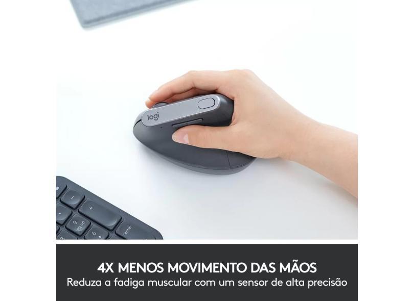 Mouse Óptico sem Fio USB MX Vertical - Logitech