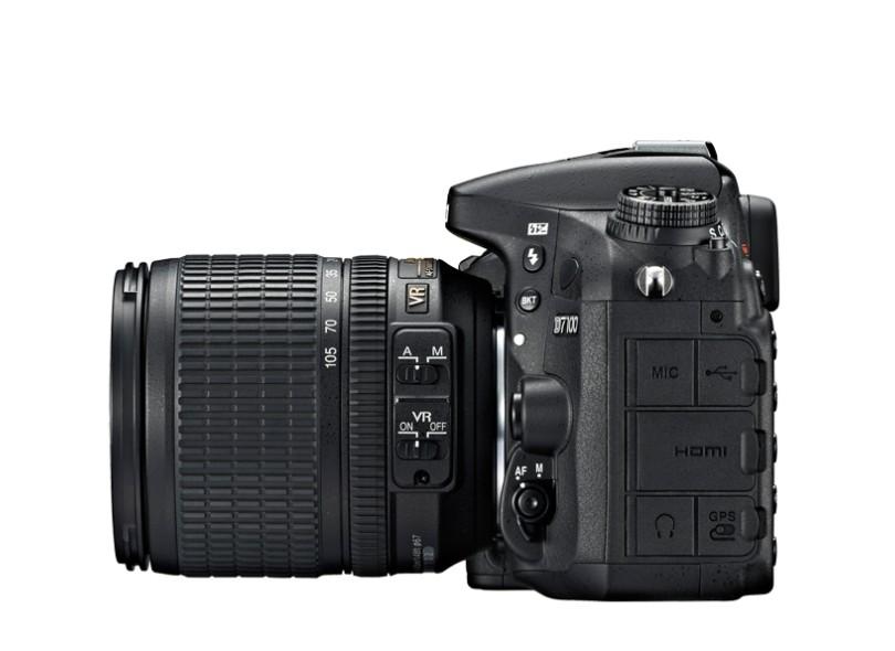 Câmera Digital DSLR (Profissional) Nikon 24.1 mpx Full HD D7100