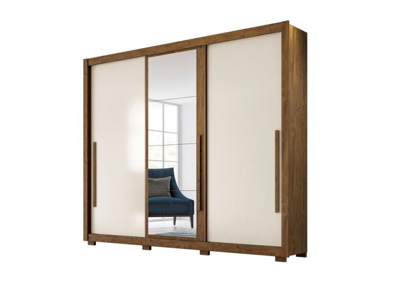 Guarda-Roupa Casal 3 Portas 5 Gavetas com Espelho Mônaco Moval